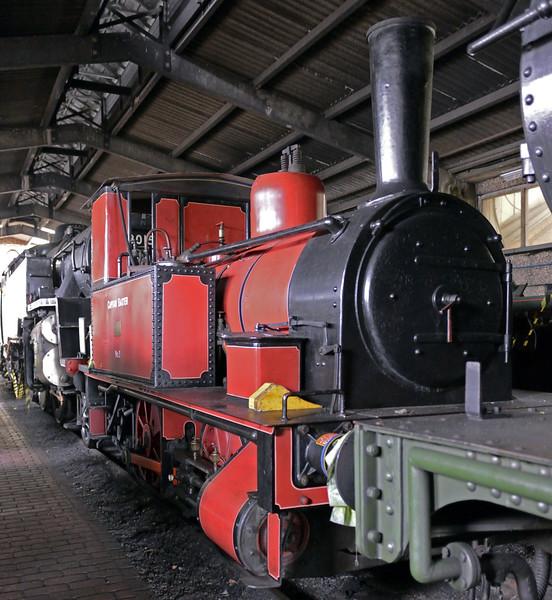 Captain Baxter, Sheffield Park, Mon 13 October 2014 1.  The Fletcher Jennings loco (158 / 1877) is operational.