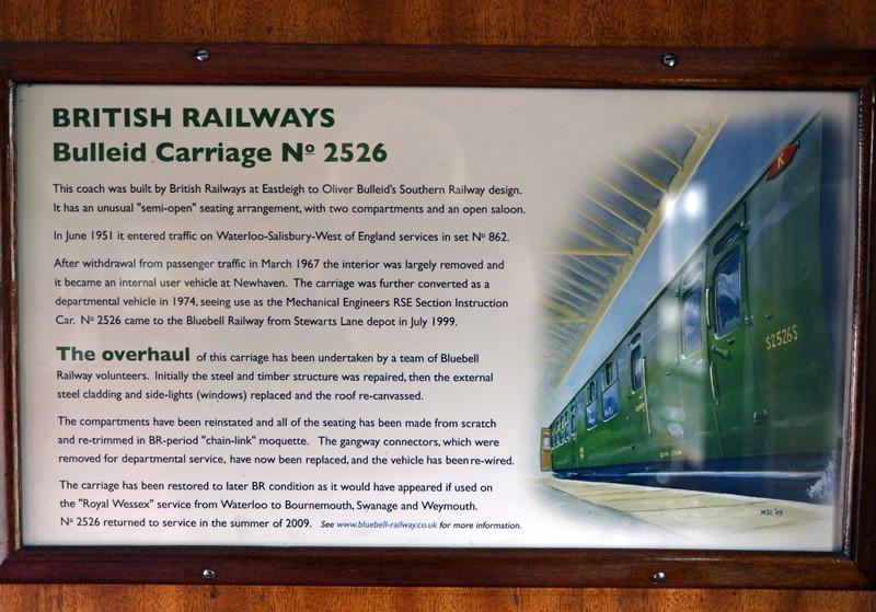 BR coach 2526S, Sheffield Park, Mon 13 October 2014
