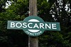 Boscarne Junction halt, Thurs 7 September 2017 1.  Boscarne Juncion was where the GWR branch from Bodmin General met the LSWR line from Wadebridge to Wenfordbridge and Bodmin North.  It had been built as early as 1834 by the locally - promoted Bodmin & Wadebridge Railway.  The line from Wenfordbridge to Boscarne Junction, Bodmin General and Bodmin Parkway stayed open as late as 1983 for china clay traffic.  After it closed, preservation moves began almost immediately and the track was left in place between Boscarne Junction and Bodmin Parkway.  However, much of the line's infrastructure had already been demolished and has had to be replaced.