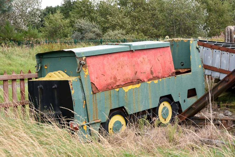 Simplex 3 foot gauge loco, Bo'ness, 24 September 2016.  This diesel mechanical loco was built in 1970 by Motor Rail of Bedford, works no 110U082, for civil engineers Edmund Nuttall for use on the Mersey Loop tunnelling project.