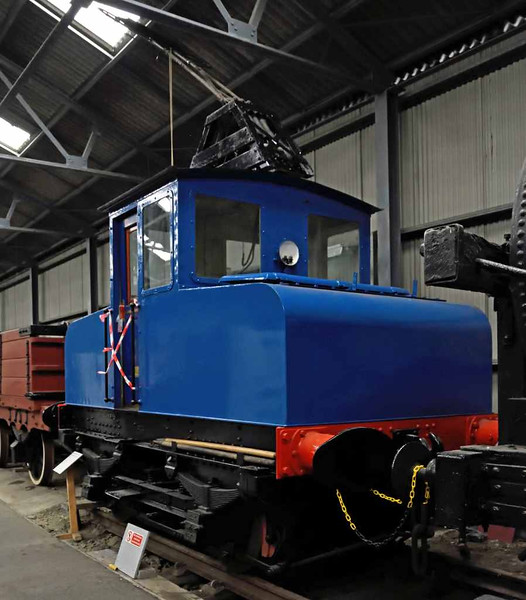 Fairfield Shipbuilding & Engineering Co electric loco, Bo'ness, 24 September 2016.  This loco was built in 1940 by English Electric (Dick, Kerr works no 1131). It was used to haul wagons from Govan goods yard to Fairfield's shipbuilding yard via the Govan Road tram tracks.