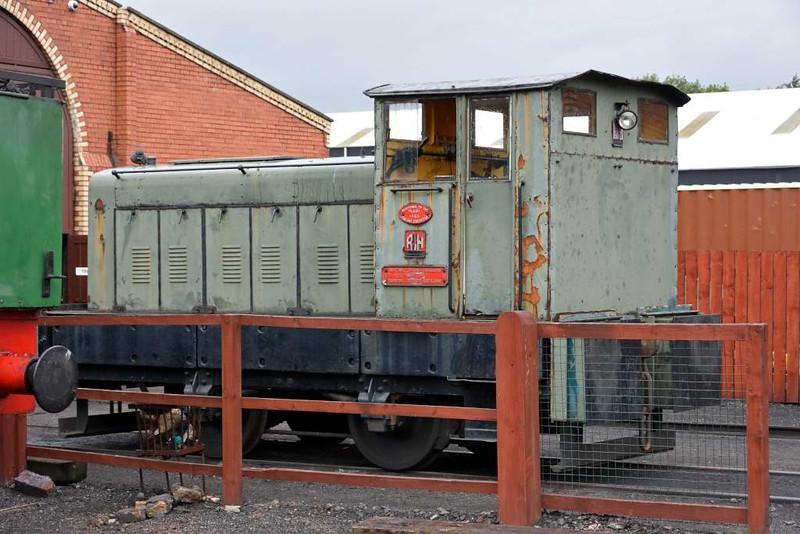 Scottish Grain Distillers loco, Bo'ness, 24 September 2016.  Ruston & Hornsby 4wDM 321733 / 1952.