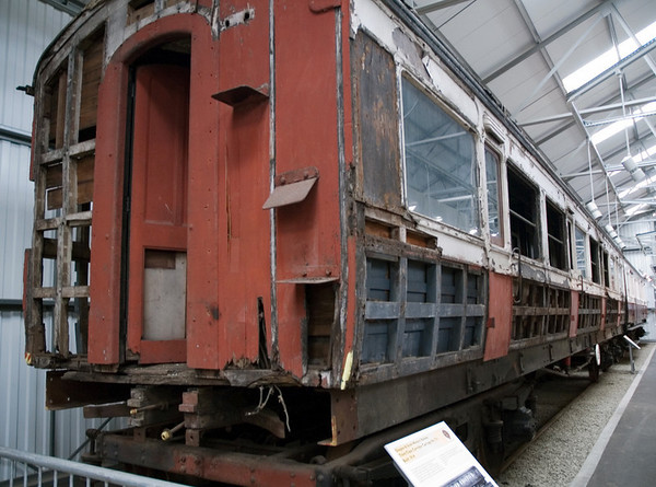 GSWR No 731 1   This unrestored third class corridor compartment coach is one of only three Glagow & South Western coaches to have survived.