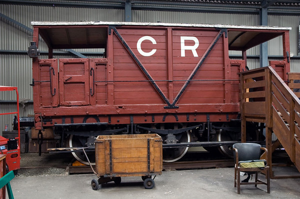 CR No 437, Bo'ness, 15 July 2007 1   This six wheel 20 ton brake van was built in 1920 by Clayton's of Lincoln.  It is the lair of...