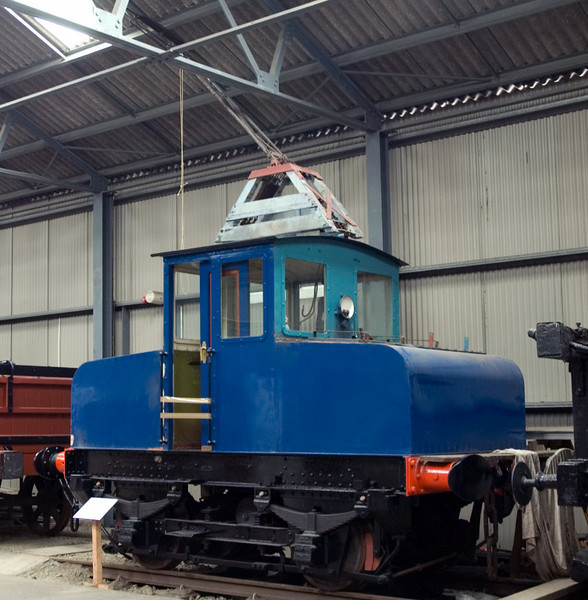Fairfield Shipbuilding & Engineering Co electric loco, Bo'ness 15 July 2007   This loco was built in 1940 by English Electric (Dick, Kerr works no 1131).  It was used to haul wagons from Govan Goods Yard to Fairfield's shipbuilding yard via the Govan Road tram tracks.