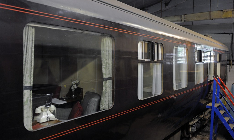 British Railways 2901, Bressingham, Sun 1 September 2013.  Saloon for royal household built at Wolverton in 1957.