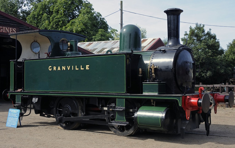 [London & South Western Rly No 102] Granvlle, Bressingham, Sun 1 September 2013.  Built by the LSWR at Nine Elms in 1893 to work in Southampton docks.  Withdrawn as BR 30102.