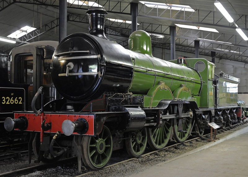 Great Northern Rly 4-4-2 No 990 Henry Oakley, Bressingham, Sun 1 September 2013.  Built by the GNR at Doncaster in 1898.