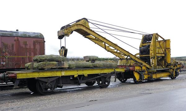 ADM 27, Quainton Road, 28 December 2012.  Ten ton crane built by Cowans Sheldon (7601 / 1944).