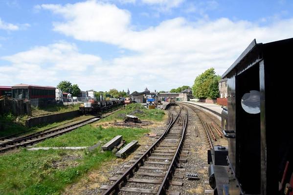 Approaching Brechin station, Sat 23 May 2015