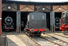 DB 01.1104 (left), SNCF 231.K.22 & 80.014 (right), South German Railway Museum, Heilbronn, 10 July 2006.  The three former Carnforth locos are partly visible here.  They have been at Heilbronn since 2001.