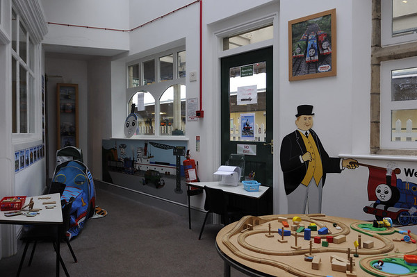 Kiddies' corner, Carnforth Station, Thurs 16 February 2012.