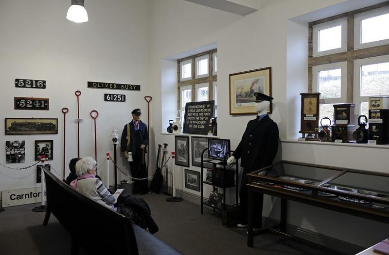 Exhibition room, Carnforth Station, Thurs 16 February 2012 1.