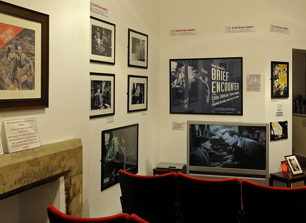 'Brief Encounter' cinema, Carnforth Station, Thurs 16 February 2012.   The film plays continuously in the visitor centre.
