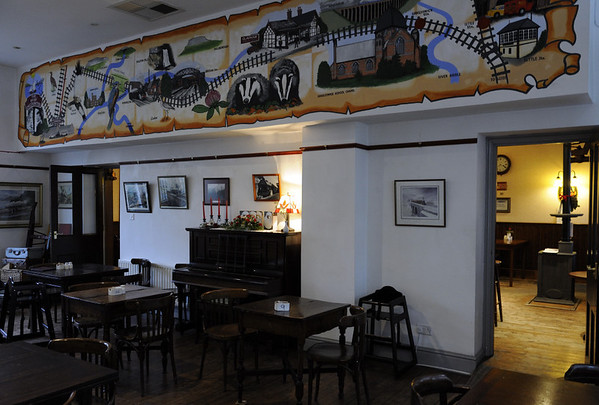 Reconstructed buffet,, Carnforth Station, Thurs 16 February 2012 2.