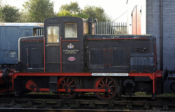 Marston, Thompson, Evershed, Brownhills West, Sat 15 December 2012.  Baguley 0-4-0DM 3410 / 1955.