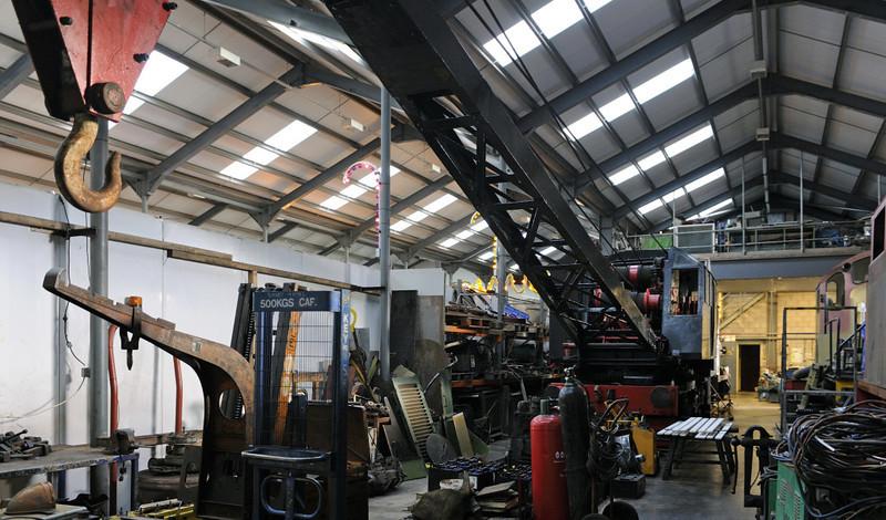 DRG 80113, Brownhills West, Sat 15 December 2012.  Ten ton Taylor Hubbard steam crane, previously DE 330274.