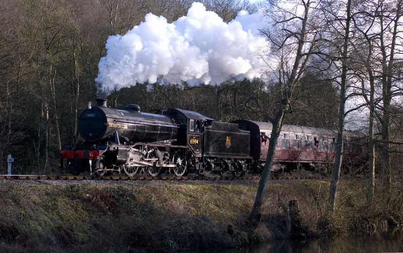 61994 The Great Marquess leaves Consall for Cheddleton on 14 January 2007 - 1349.