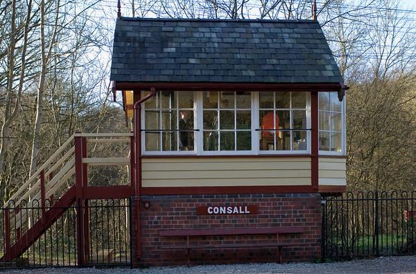 Consall signalbox, 14 January 2007