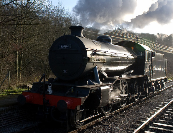 61994 The Great Marquess, Kingsley & Froghall, 14 January 2007 2 - 1025.  The Marquess runs round its train to Cheddleton.