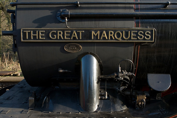 61994 The Great Marquess, Kingsley & Froghall, 14 January 2007 1 - 1020.   This was almost the first public appearance of the Marquess following overhaul at Crewe.