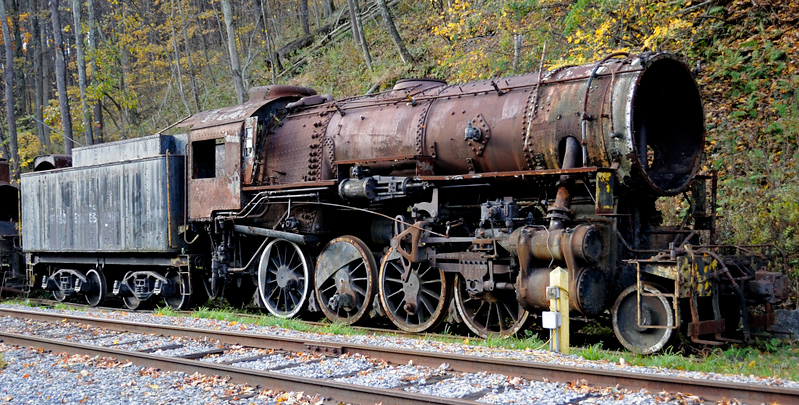 US Army Transportation Corps No 612, Cass, West Virginiia, Sat 16 October 2010 1.  Baldwin 69858 / 1943.  This loco subsequently moved to the Southeastern Rly Museum,  Duluth, Georgia and in 2018 was at the Age of Steam Roundhouse, Sugarcreek, Ohio.