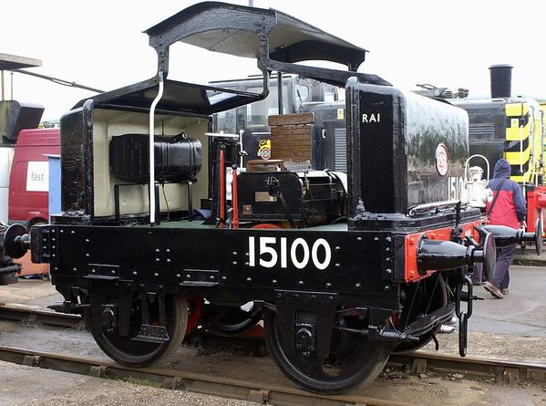 '15100', Crewe, 10 September 2005 1.  Motor Rail 4wPM built in 1919, works no 1930.