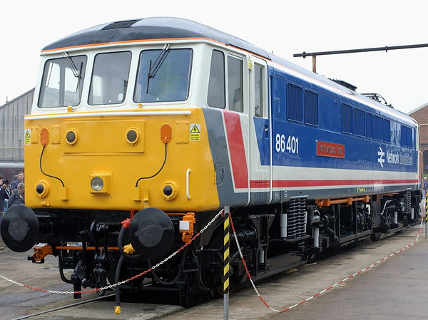 86401 Northampton Town,  Crewe, 10 September 2005.  The AC Loco Group's 86 had just been named.