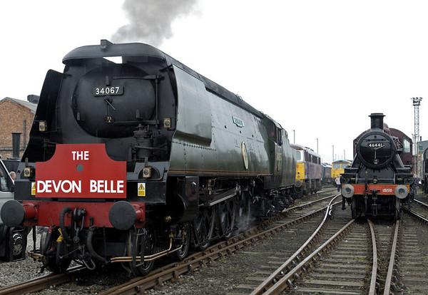 34067 Tangmere & 46441, Crewe, 10 September 2005