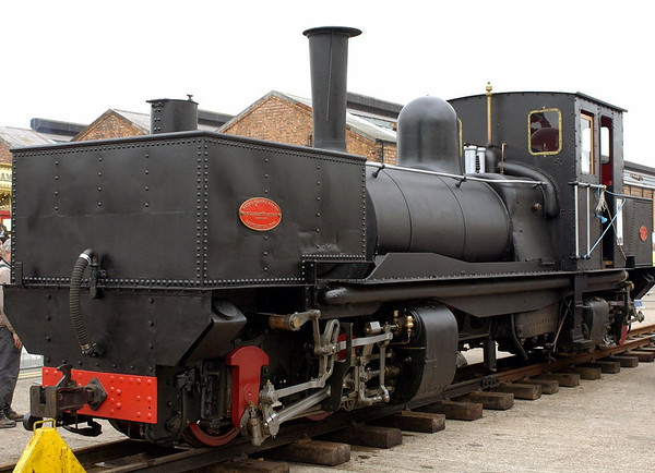 Tasmanian Railways 0-4-4-0T No K1, Crewe, 10 September 2005 1.  One of the first two Garratt articulated locos ever built, in 1909,  2ft gauge.