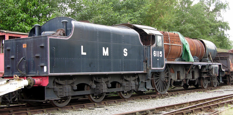 6115 Scots Guardsman, Crewe Railway Age, 14 August 2004 1.  Returned to steam in 2008 by West Coast Railways, and withdrawn for overhaul in 2017.