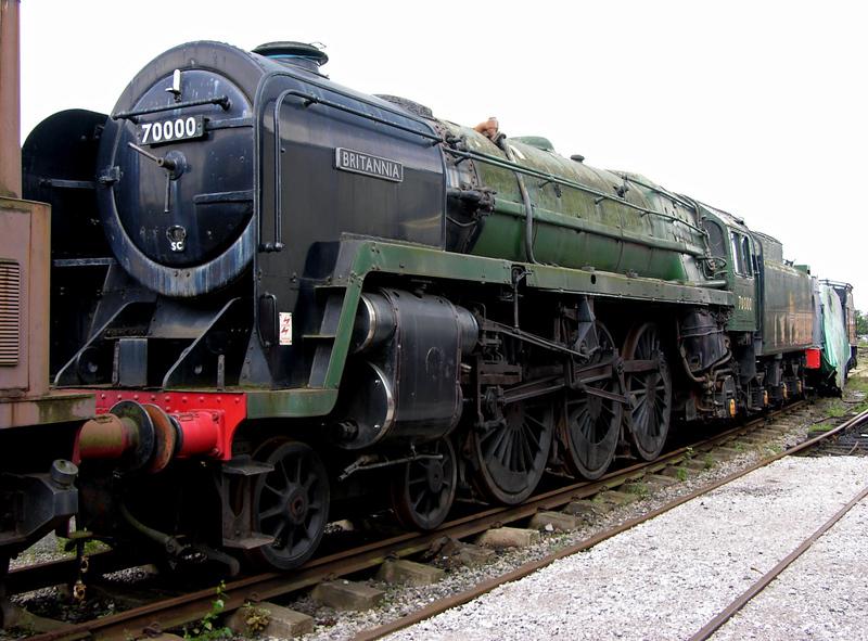 70000 Britannia, Crewe Railway Age, 14 August 2004 2.