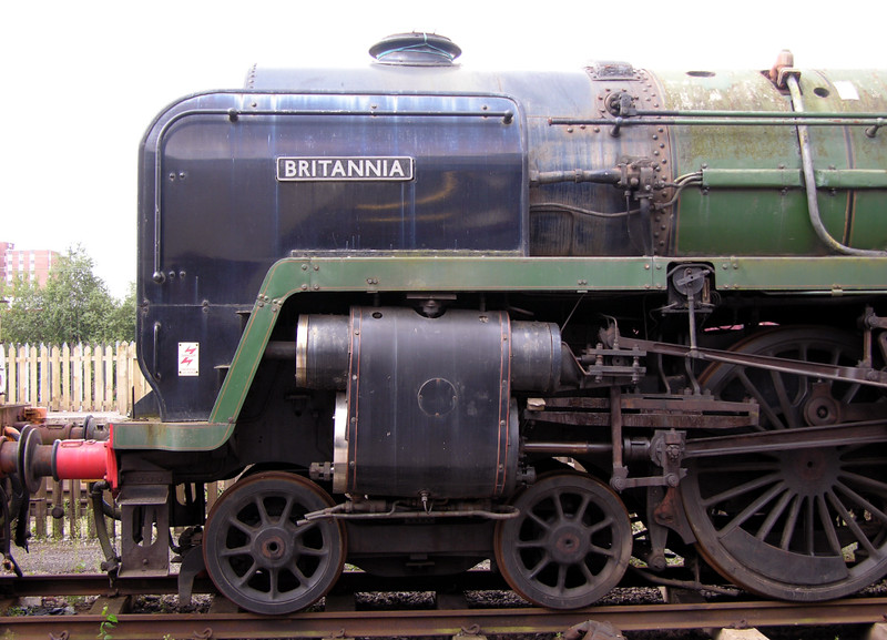 70000 Britannia, Crewe Railway Age, 14 August 2004 3.