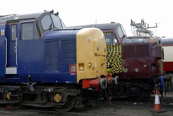 37683 & 37108, Crewe, Sat 12 March 2011