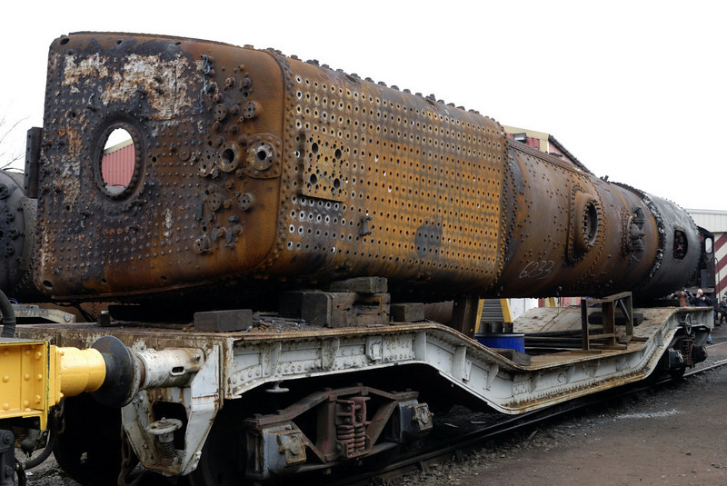 6233 Duchess of Sutherland boiler, Crewe, Sat 12 March 2011