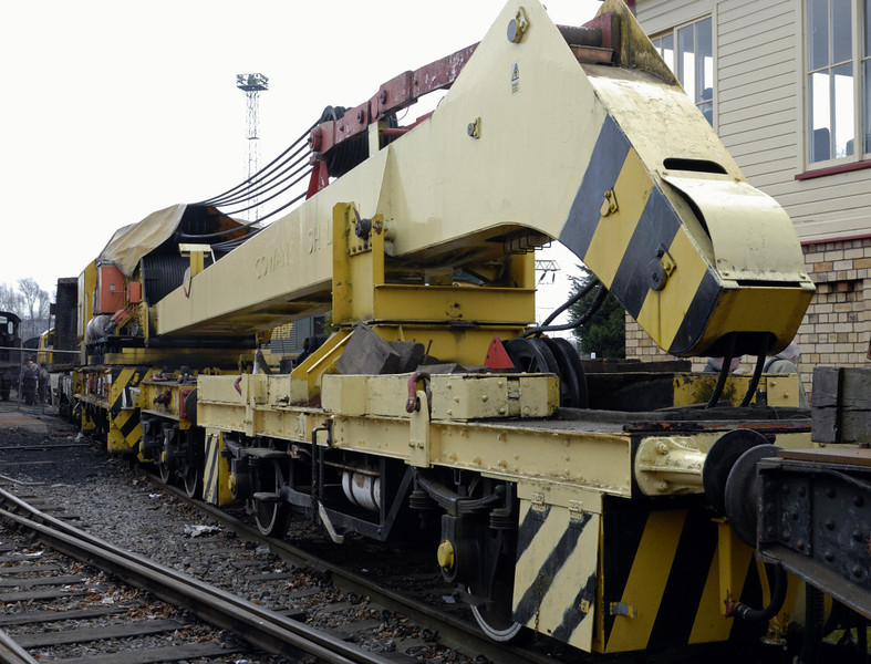 ADRC 96719, Crewe, Sat 12 March 2011 1.  45 ton crane built by Cowans Sheldon in 1939, later converted from steam to diesel-hydraulic operation.