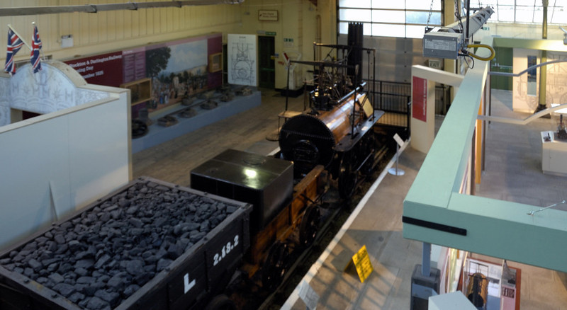 Head of Steam museum interior, Darlington North Road, 15 November 2009 2      The museum's fourth loco is legendary Stockton & Darlington Rly No 1 Locomotion (1825).