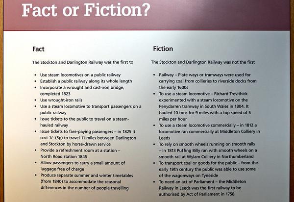 Stockton & Darlington Rly fact and fiction, Darlington North Road, 15 November 2009