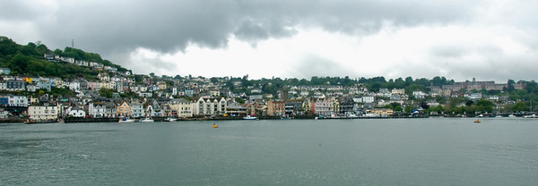 Dartmouth from Kingswear, 17 May 2008    Looking north west, with the Britannia Royal Naval College on the right.