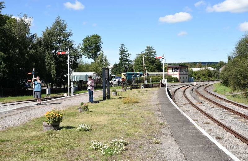 Lydney Junction station, 2 September 2017 3.  Looking north towards Lydney Town and Norchard.