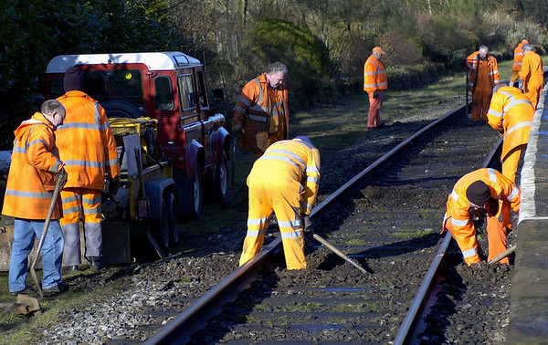 Track work near Summerseat, 28 January 2006 - 1154.