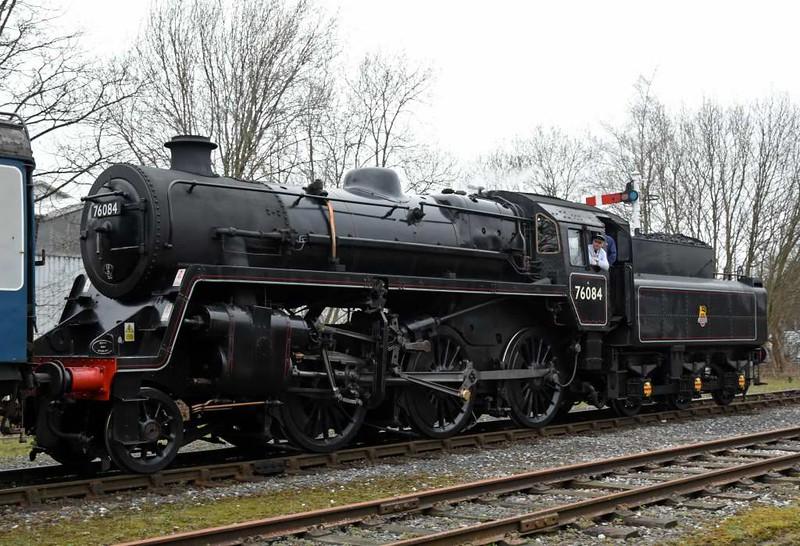 76084, 1J60, Ramsbottom, Sun 12 March 2017 - 1348.  Drifting on the rear of the 1330 Rawtenstall - Bury hauled by 52322.
