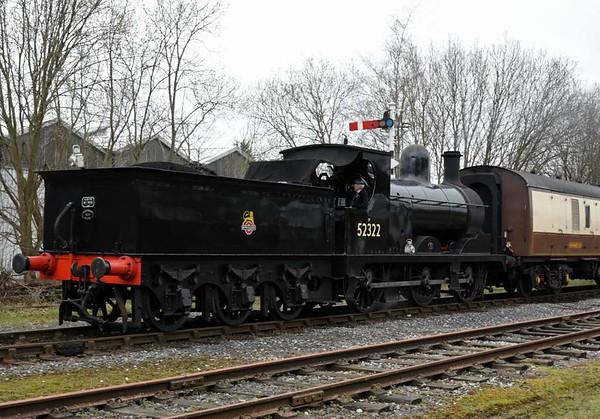52322, 1J60, Ramsbottom, Sun 12 March 2017 - 1348.  Bringing in the 1330 Rawtenstall - Bury.  76084 was on the rear.