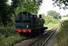 5637, Mendip Vale halt, 6 September 2017.  Running rond its train for the return to Cranmore.