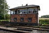 Cranmore signal box, 6 September 2017. The 1904 box is original but was stripped off its equipment after it closed in 1968.