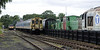 205009, 4-CEP 2311, the 'Whitehaven three' shunters & 37250, Warcop, Sun 10 July 2011.