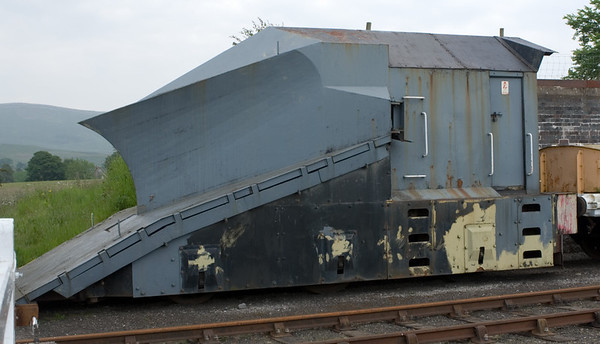BR standard independent snowplough ADB 965197, Warcop, 9 June 2007.  Allocated to Perth in 1991 but withdrawn by 2000.