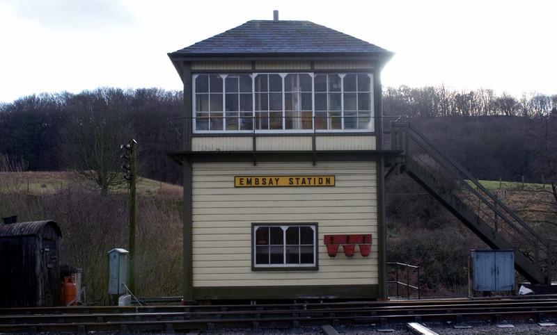 Embsay Station signalbox, 16 December  2006.