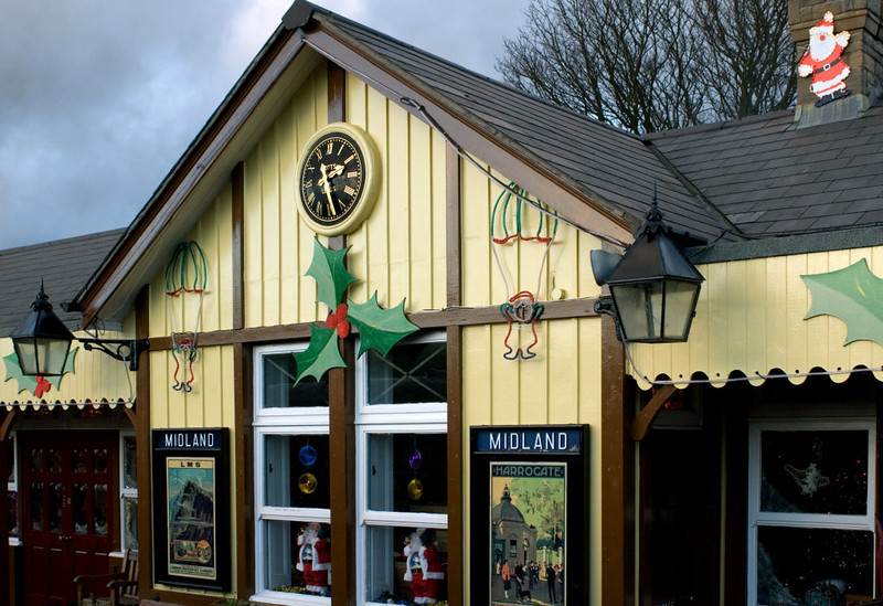Bolton Abbey station, 16 December 2006 1.  Here are six views of Bolton Abbey station decorated for Christmas.