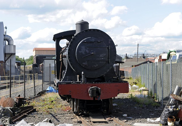 Sharp Stewart 4-8-0, Tyseley, Sun 26 June 2011 1.  This is another Glasgow-built loco repatriated from South Africa.  It is a 3ft 6in gauge wood burner (SS 4150 / 1896)  built for the (South African) Cape Government Rlys.  It subsequently worked for South African then Rhodesian Rlys, and finally Zambesi Sawmills Rly. Donated to David Shepherd, it is now part of the national railway collection.